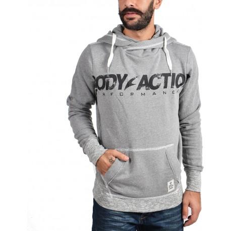 Body Action Hooded Sweatshirt 063608-Grey