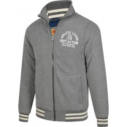 Body Action Mock Neck Collar Jacket 073510 D.Mel.Grey