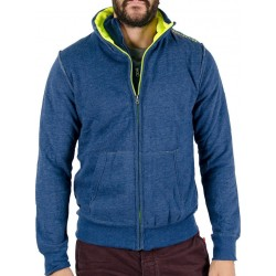 Body Action Double Mock Neck Collar Jacket 073505 Blue