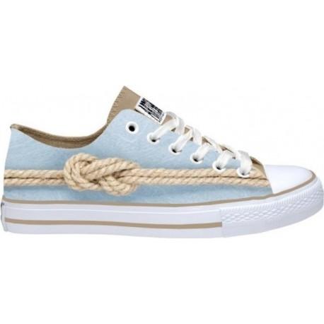 Celdes Art Shoes Πάνινο παπούτσι Γαλάζιο -καφέ