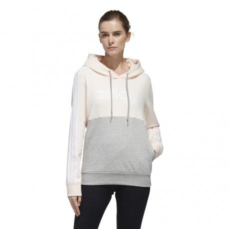 Womens Essentials Colorblock Fleece Hoodie GL6304