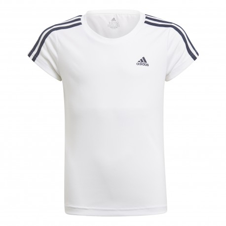ADIDAS GIRLS D2M 3 STRIPES T-SHIRT GN1456