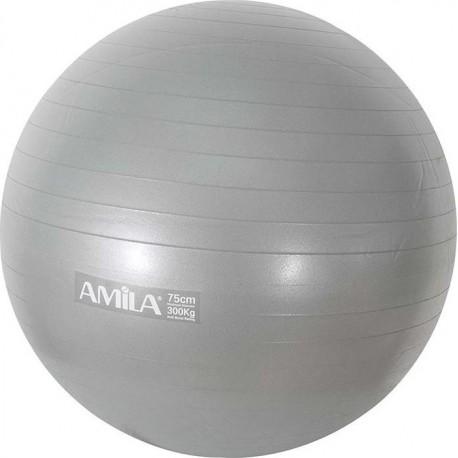 Amila 48425 Μπάλα Pilates 75cm Bulk Γκρι